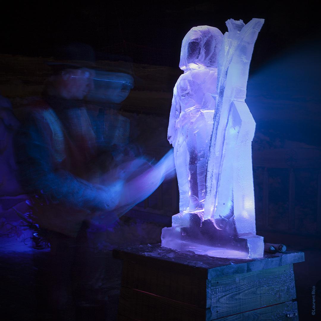 laurent rico-entreprise-creations- realisations-productions audiovisuelles-manifestations-evenements-photographies-savoie-sculpture sur glace-christian burger-artiste-
